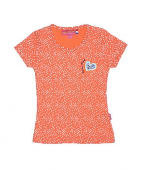 Bakery Babes Pünktchen T-Shirt peach