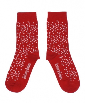 Bakery Babes Pünktchen Socken red/white