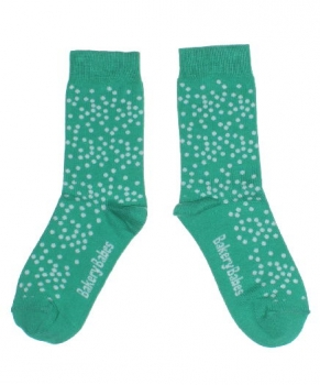 Bakery Babes Pünktchen Socken green/white