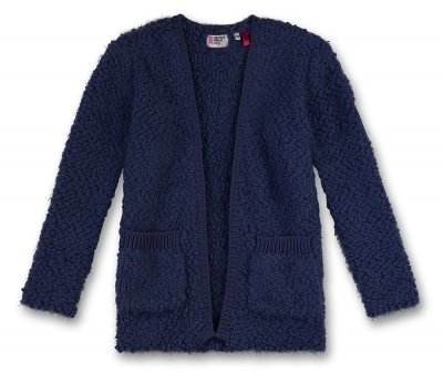 GEORGE GINA & LUCY girls Boucle lange Strickjacke/-mantel blue haze ---NEU---