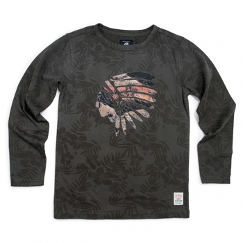 Jake Fischer Langarmshirt indian Kroove pinetree