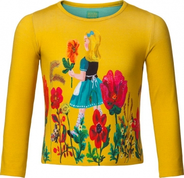 "Room Seven® Langarmshirt Tin ""field of flower"" yellow"