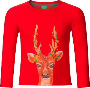 "Room Seven® Langarmshirt Tammy ""deer"" red"