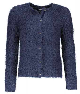 Like FLO Boucle Strickjacke/Cardigan navy ---NEU---