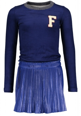 Like FLO Materialmix Langarmkleid cobalt ---NEU---