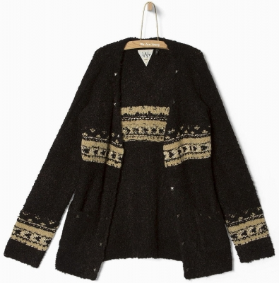 WAY by IKKS Stardust lange Strickjacke noir ---NEU---