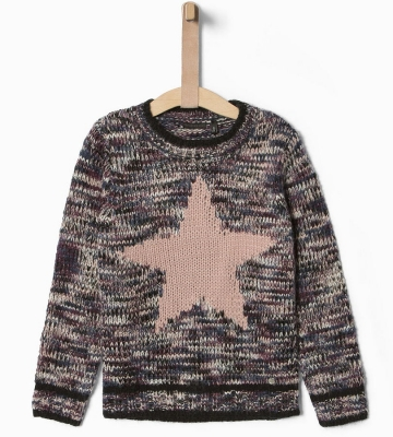 "IKKS city black Strickpullover ""star"" prune ---NEU---"