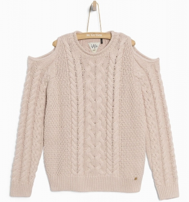 WAY by IKKS Street Shining Strick-Pullover rose poudré ---NEU---