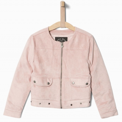 IKKS city black Velours-Jacke rose moyen ---NEU---