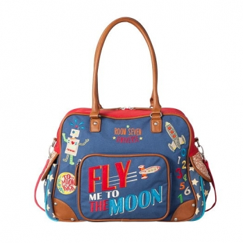"Room Seven® Wickeltasche ""Fly me to the moon"" blue ---NEU---"