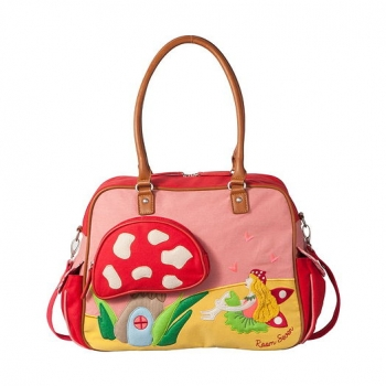 "Room Seven® Wickeltasche ""Fairy & mushroom"" red ---NEU---"