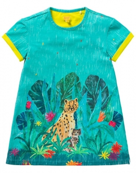 "Room Seven® Kurzarm-Jerseykleid Tatou ""jungle"" light blue"