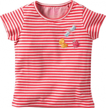 Room Seven® Ringel-Kurzarm-Shirt Ti stripes pink
