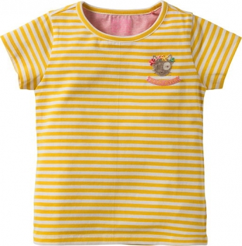 Room Seven® Ringel-Kurzarm-Shirt Ti stripes sunshine yellow