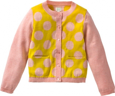 Room Seven® Feinstrickjacke Koala dots pink/yellow