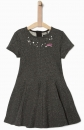 IKKS city black Kurzarm-Sweatkleid gris chiné anthracite ---NEU---