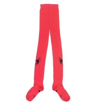 "Mim-Pi Roodkapje basic Strumpfhose ""doggy Lucky"" pink/red"