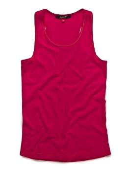 June-D Tanktop Ruffles rusty red