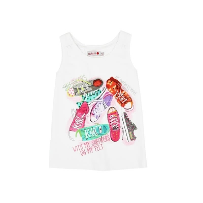 "boboli kids girl ""Palm Springs"" Tanktop blanco"