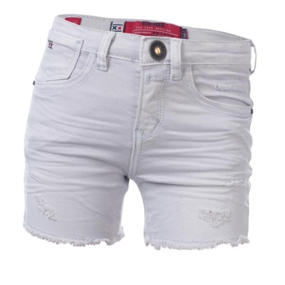 Blue Rebel highrise Denim Shorts pearl