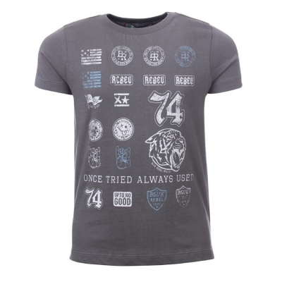 Blue Rebel spot on Stempeldruck T-Shirt smoke