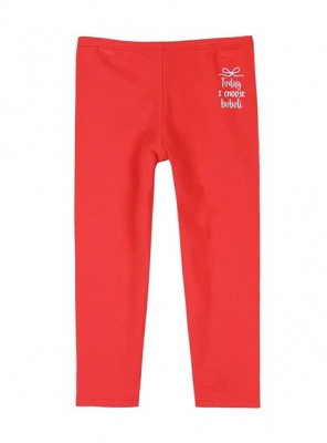 boboli kids girl basico Capri Leggings rojo
