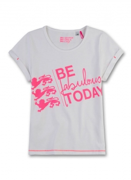 "GEORGE GINA & LUCY girls T-Shirt ""Be fabulous today"" ivory"