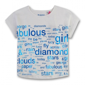 "GEORGE GINA & LUCY girls T-Shirt ""Fabulous"" ivory"