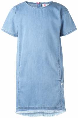 NOP girls Kurzarm-Jeanskleid Orland blue denim