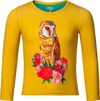 Room Seven® Langarmshirt Tin owl solid yellow