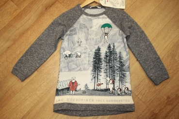 nice things Langarm-Sweatkleid Mountains and Bears grey