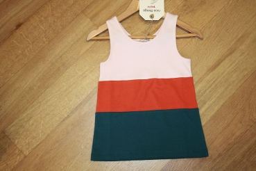 nice things ärmelloses colorblock T-Shirt/Top Canalé tricolor