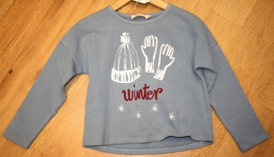 "nice things Sweatshirt ""Winter"" light blue"