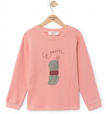 "nice things Sweatshirt ""Positional"" medium pink"