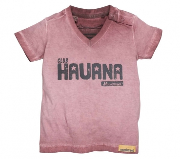 "moodstreet Mini boys T-Shirt ""Club Havana"" washed grape"