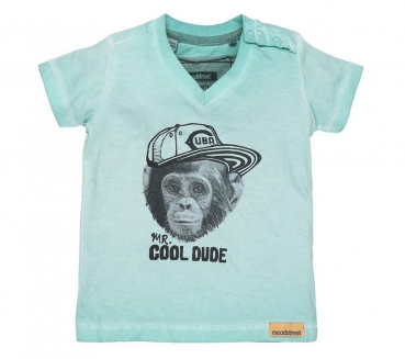 moodstreet Mini boys T-Shirt monkey washed turquoise