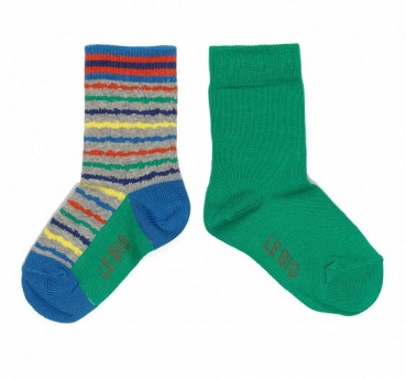 LeBig 2er Pack Jungen Socken grey-multi/amazon green