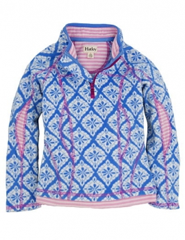 Hatley Mikrofleece Mock Neck Sweater Skylight Medallion