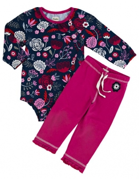 Hatley Baby Play-Set Field Flowers navy/burgundy
