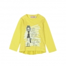 "boboli baby girl ""brush stroke"" Langarm-Shirt limon"