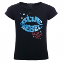 Blue Rebel spot on Logo T-Shirt black