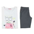 boboli sleepwear girls Shorty/Schlafanzug blanco
