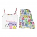 "boboli sleepwear girls Shorty/Schlafanzug ""bicycle"" blanco"