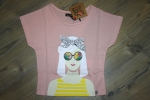 "Sorry4theMess T-Shirt ""sunglasses"" rose poudré"